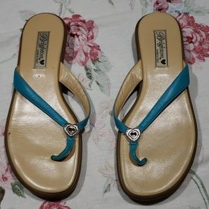 Brighton leather thong sandlas 10